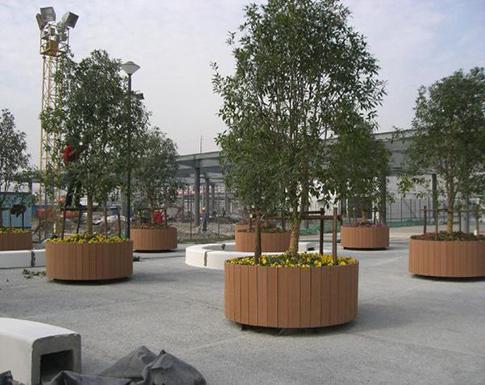 商业广场花箱