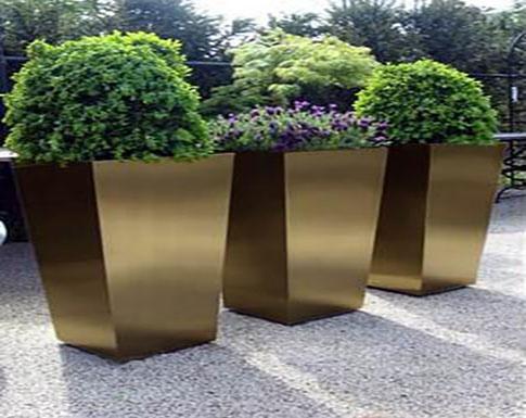 不锈钢景观花箱