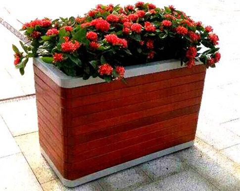 铝合金包边木质花箱