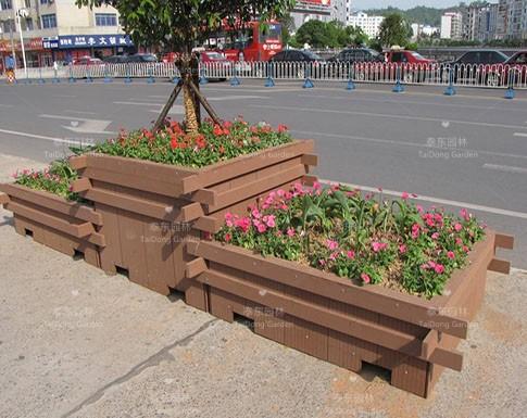 塑木道路花箱