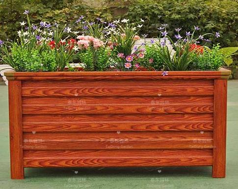 仿木纹花箱