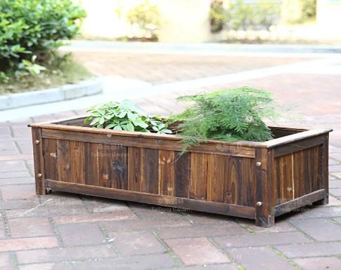 木制园林花箱