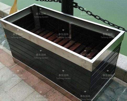 不锈钢防腐木花箱