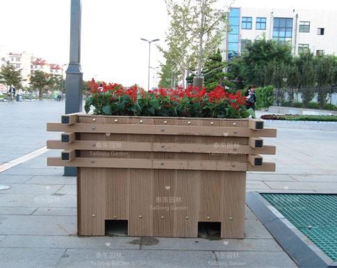 户外塑木花箱
