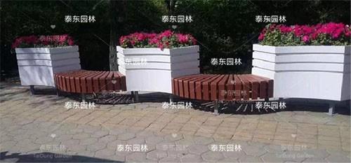 PVC弧形座椅花箱