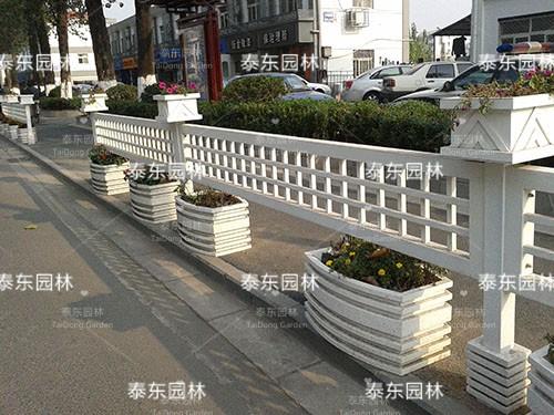 户外PVC花箱护栏
